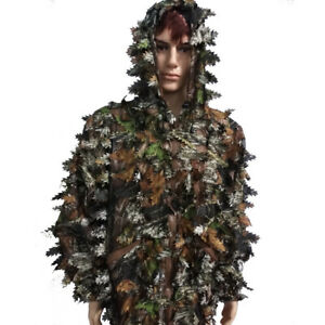 3D-Leaf-Sniper-Ghillie-Suit-Woodland-Camouflage-Hunting-Cloak-Tactical-Clothing