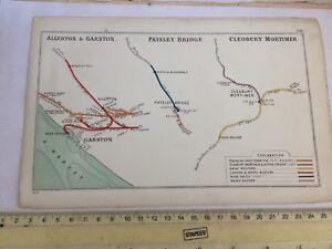PATELEY-BRIDGE-CLEOBURY-MORTIMER-WYRE-FOREST-GARSTON-ALLERTON-RAILWAY-MAP-1913