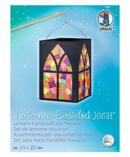 Ursus Laternen Bastelset FENSTER Motiv Kindergarten Zuglaterne St Martin Umzug