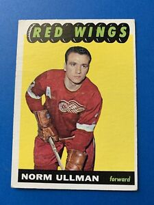 Norm-Ullman-1965-66-Topps-Vintage-Hockey-Card-49-Detroit-Red-Wings