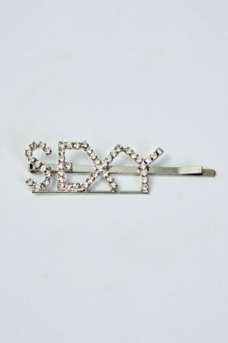 Diamond Slogan Words Letters Hair Clip Slide Barrette Hair Accessory UK SELLER