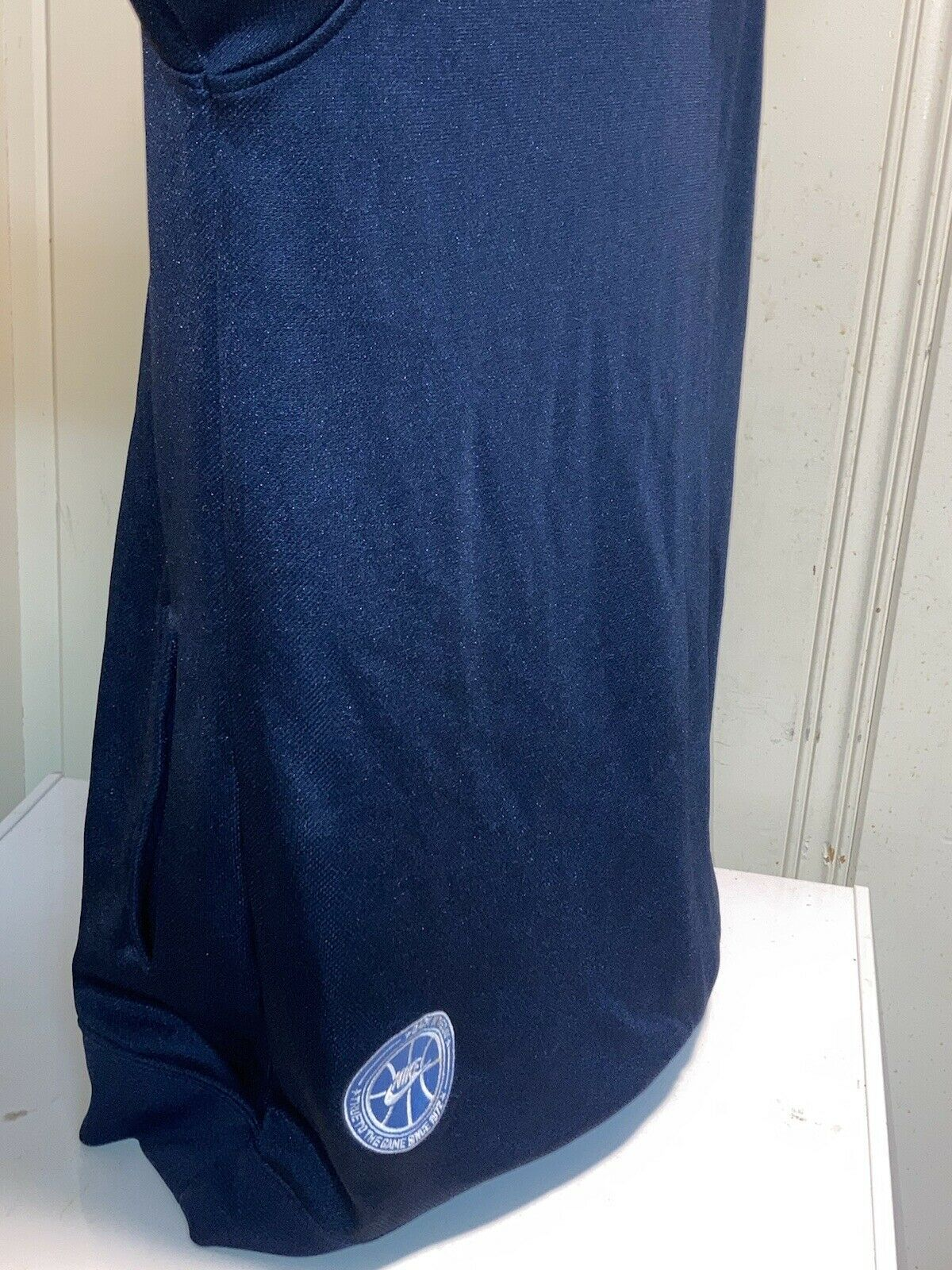 vintage 90s blue and white Nike swoosh hoodie XL … - image 6