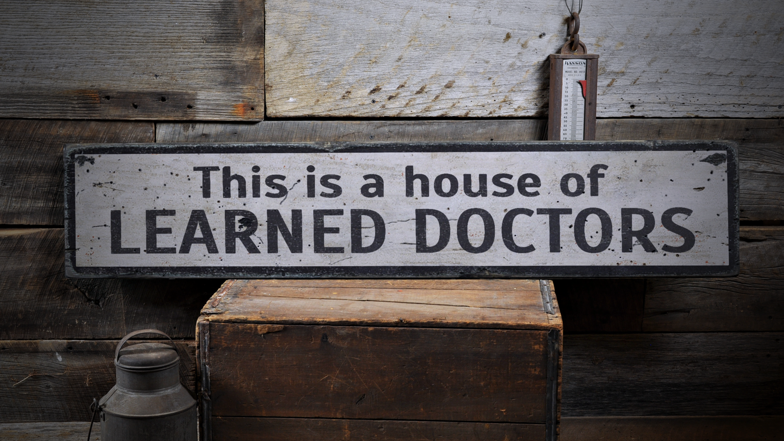 Learned Doctors, Medical, Doctor - Rustic Distressed Wood Sign ENS1000898