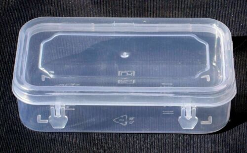 CLEAR TRANSPARENT STORAGE COLLECTION SMALL PLASTIC CONTAINER BOX CASE 4.5X3inch
