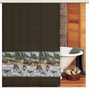 Image Is Loading Blue Ridge Trading River Fish Fabric Shower Curtain