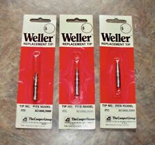 3 Weller Replacement Soldering Tips Etc Fits Ec1000 2000 Nos