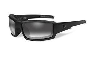 Harley-Davidson-Wiley-X-Black-Sun-glasses-w-Gray-Light-Adjusting-Lens-HDJUM05