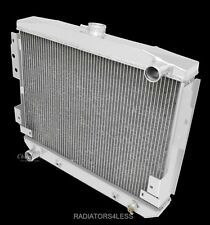 New Aluminum Radiator For Ford Mustang II 5.0L V8 STAMP TANK 75-78 75 76 77 78