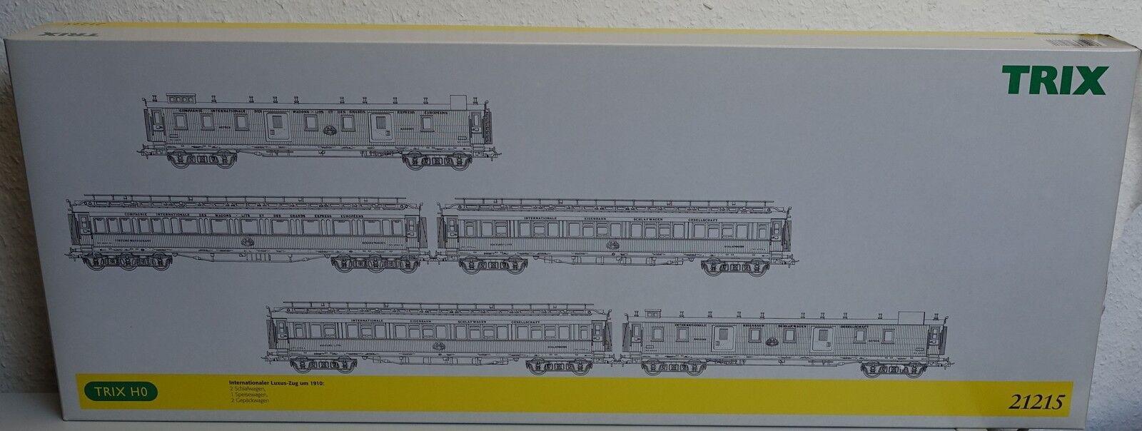 TRIX H0 Wagen-Set 21215 Internationaler Luxus-Zug um 1910 OVP