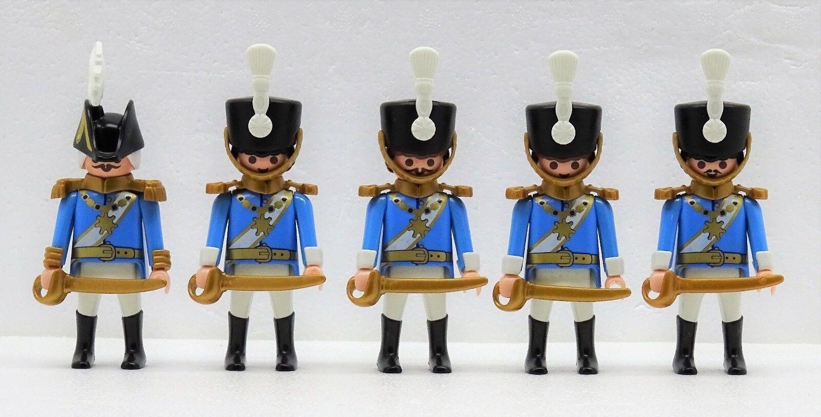 4 x  HUSAR + 1 OFFIZIER HOLLAND BELGIEN Playmobil zu Napoleon Garde Hussard 04