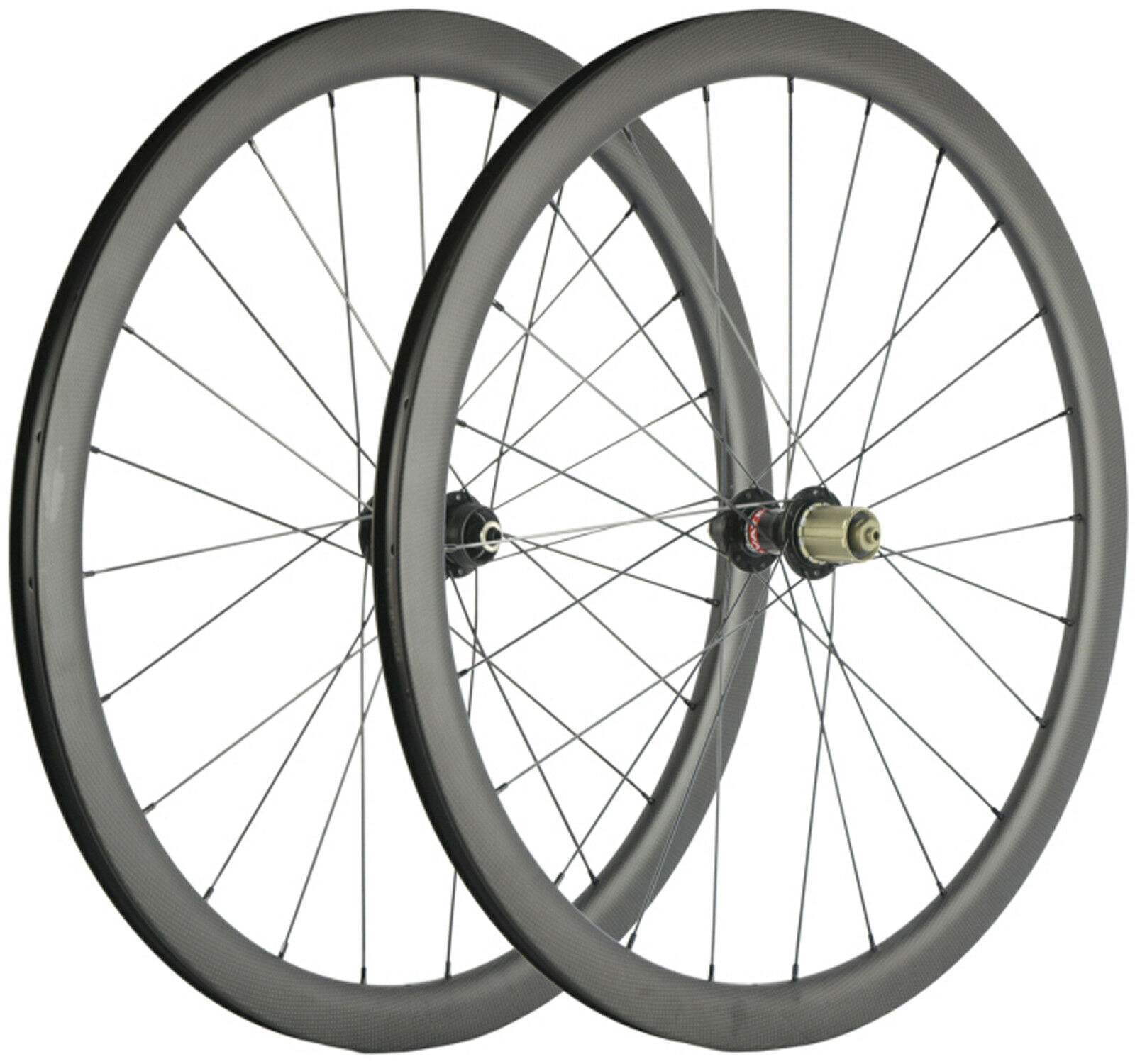 Carbon Cyclocross Wheelset 40mm Clincher Tubular Tubeless Disc Brake Wheels 700C
