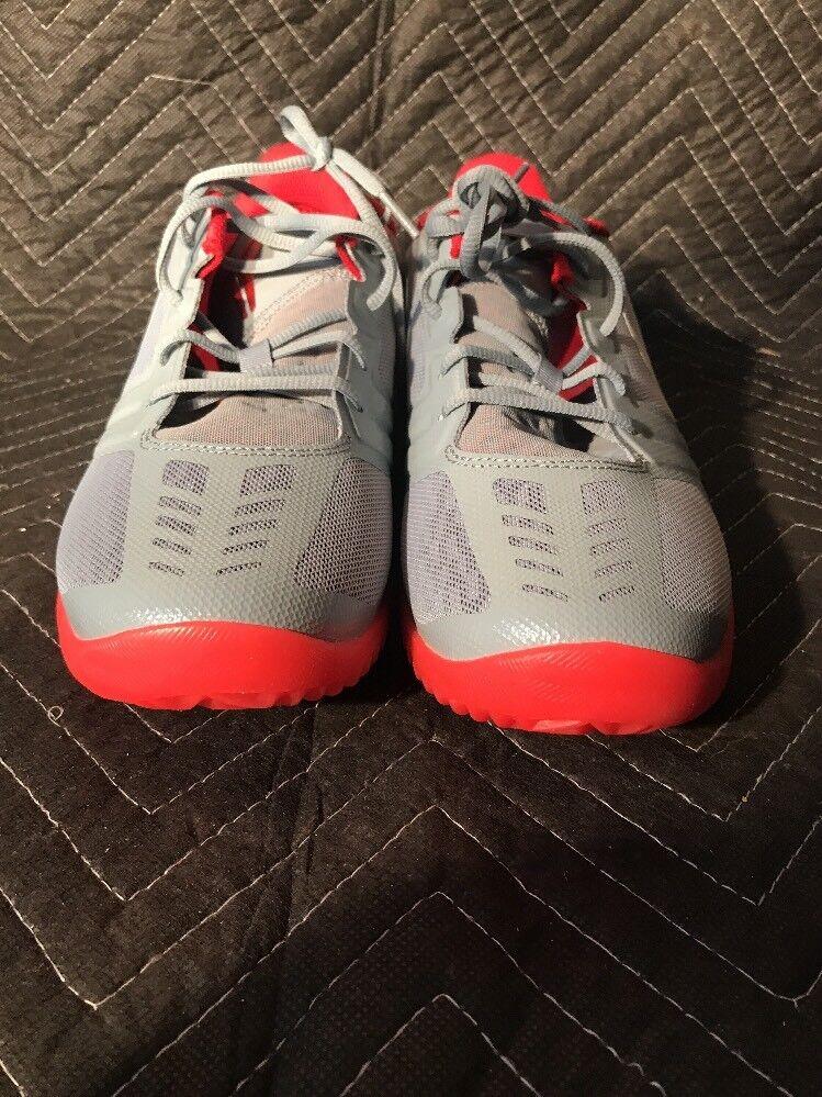 Nike KB Mentality Kobe Bryant Nemesis Gray Red Size 11.5 shoes 704942-007