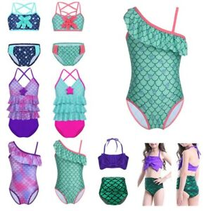 UK Kid Baby Girls Mermaid Swimwear Swimsuit Bikini Bathing Beachwear nbgfrerr
