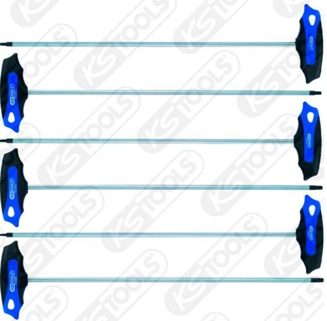 KS TOOLS ERGOTORQUEplus T-Griff-TX-Winkelstiftschlüssel-Satz, 6-tlg. 158.8050