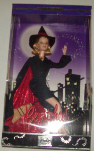 2001 Bewitched Barbie , as Samantha  MIB