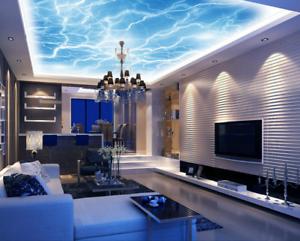 3D blueer Blitz 792 Fototapeten Wandbild Fototapete BildTapete Familie DE Kyra