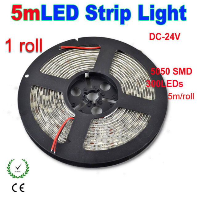 DC24V 5M SMD 5050 300LEDs 60leds/M Non/Waterproof IP65 Flexible LED Strip Light