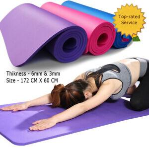 Extra-Thick-Non-slip-Yoga-Mat-Pad-Exercise-Fitness-Pilates-w-Strap-172-x-60-CM