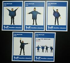 Set of 5 BEATLES CLASSICS trade cards - HELP! - Blue series