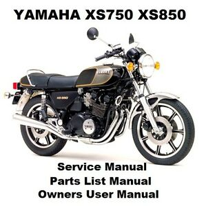 Details about YAMAHA XS750 XS850 Owners Workshop Service Repair Parts List  Manual PDF on CD-R