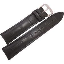 19mm Rios Mens Louisiana Black Alligator Grain Leather German Watch Band Strap