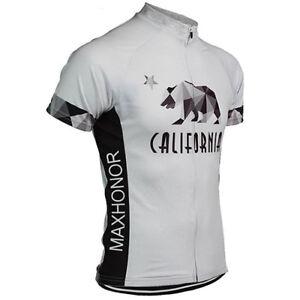 CALIFORNIA-Bear-Cycling-Jersey-Retro-Road-Pro-Clothing-MTB-Short-Sleeve