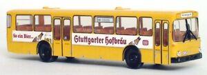Bahnbus-MB-o-307-en-miel-amarillo-stuttgart-Hofbrau-nuevo