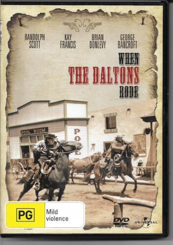 1 of 1 - When the Daltons Rode (DVD, 2008) Western Drama B&W