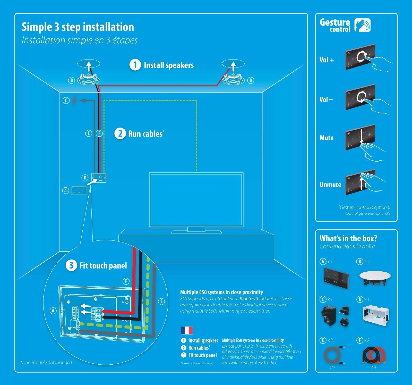 Systemline E50 Bluetooth Speaker System Gesture Control Only | eBay
