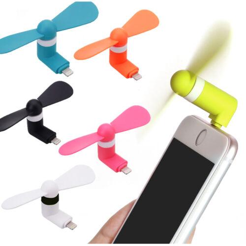 Mini Portable iPhone 7 8 X 11 Mobile iPad USB Lightning Power Fresh Cool Air Fan