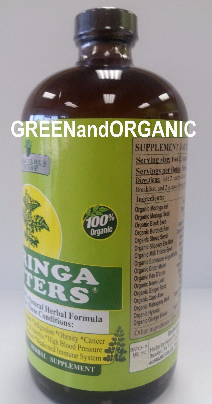 ORIGINAL 100%Organic MORINGA DETOX Bitters HERBAL DIETARY SUPPLEMENT Veg  NATURAL