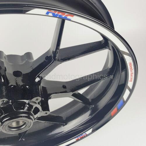 Honda Racing HRC CBR1000RR motorrad Felgen Rand Aufkleber rim stickers cbr600rr