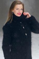 SUPERTANYA BLACK Hand Knit Mohair Sweater Fuzzy Handgestrickte Catsuit ON SALE