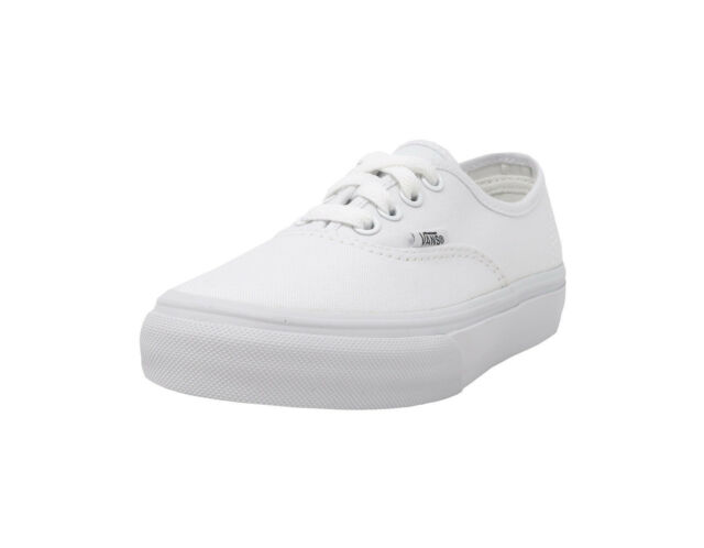 a5cd4fff985 VANS Authentic True White Canvas Lace Up Youth Kids Sneakers Girls Boys  Shoes