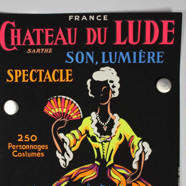 Chateau du Lude Spectacle 1963 Sarthe Poster Plakat 60er Jahre Frankreich