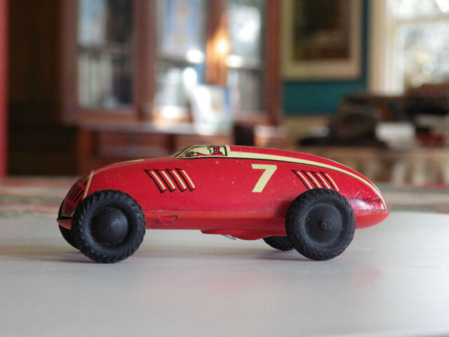 tin racing car  auto union wind up western germany 1950s  us zone blech Blech li