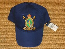 POLO RALPH LAUREN BASEBALL  CAP ROYAL  CREST BLUE  ADJUSTABLE LEATHER STRAP NEW