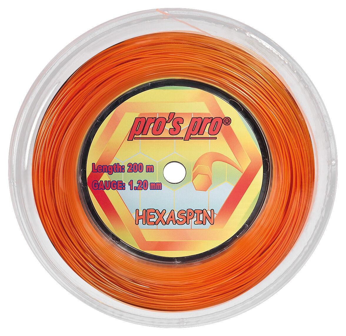 Pro's Pro Hexaspin 17 1.20mm Tennis Strings 200M Reel