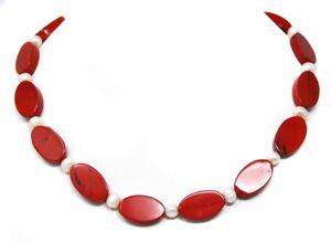 Eccezionale-collana-di-Jaspis-rosso-in-forma-ovale-con-susswasserperlen