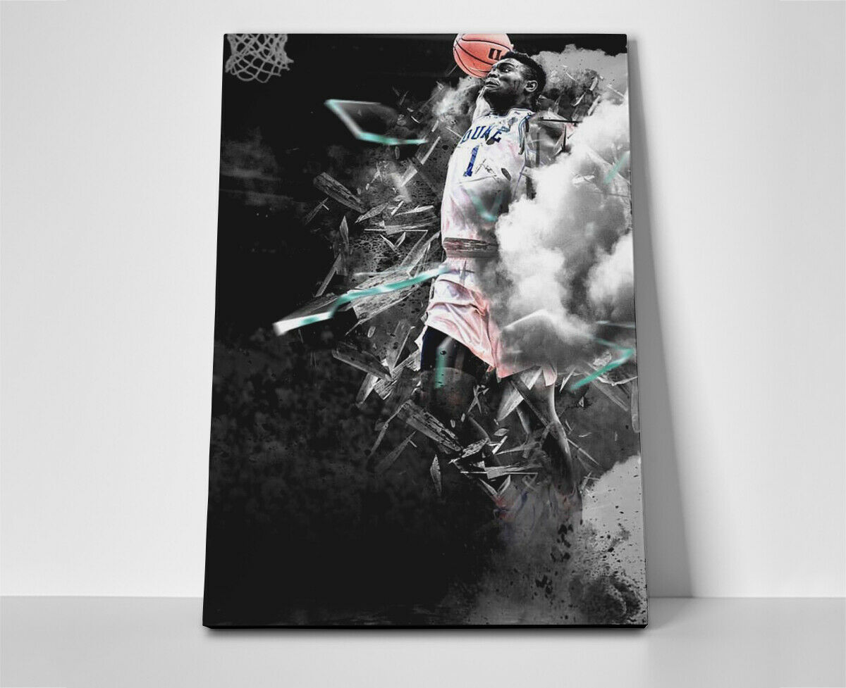 Zion Williamson Dunk Poster or Canvas
