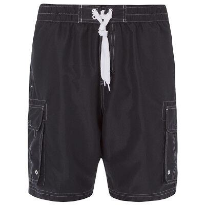 Mens Plain Long Mesh Lined Swim Shorts