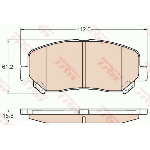 Scheibenbremse TRW GDB3562 passend für MAZDA 1 Bremsbelagsatz