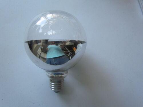 Silber 60W ø 100mm Glühlampe PAULMANN Globelampe G100 E27 Bodenverspiegelt !!