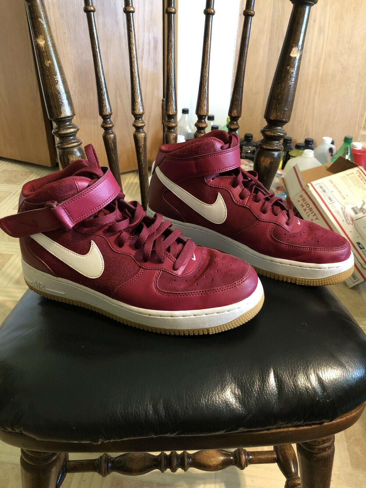 Nike Air Force 1 Mid 07 Red White Shoes Sneakers Size 9