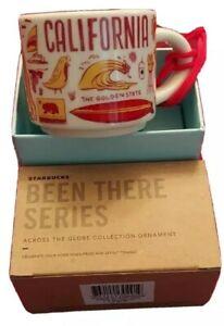 "STARBUCKS ~ California ~ ""Been There"" Icon Ornament Mug (NEW) ~ YAH 2 Oz NWT"