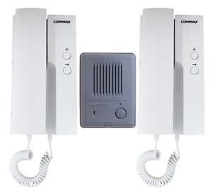 intercom doorbell wiring diagram intercom image commax 1 to 2 audio intercom 1 audio doorbell 2 audio phones kit on intercom doorbell