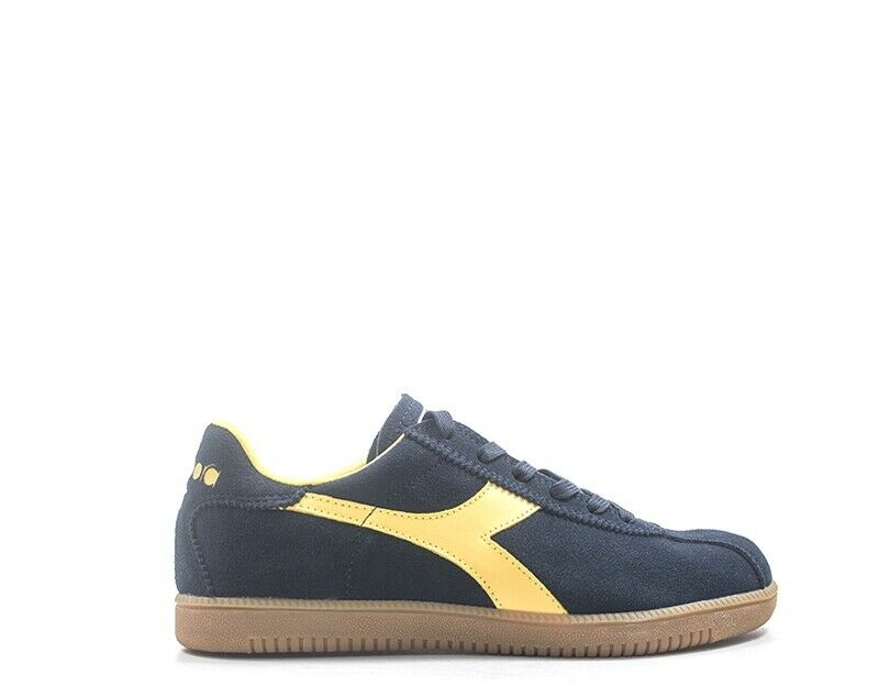 shoes Diadora 2.0 Man Sneakers bluee Leather Natural 172302-c4740