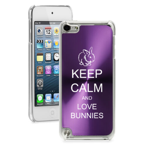 For Apple iPod Touch 4th 5th 6th Hard Case Cover Keep Calm Love Bunnies