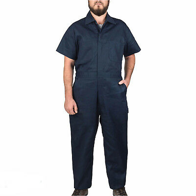 Haben Sie Einen Fragenden Verstand Walls Short Sleeved Twill Summer Overalls Coverall Boiler Suit Navy Rrp £27