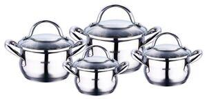 8 Tlg Inox Batterie De Cuisine Induction Ensemble Des Casseroles
